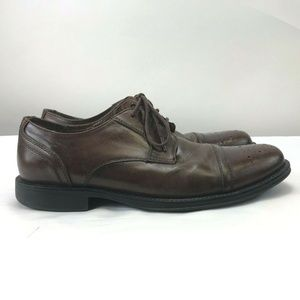 Johnston And Murphy Brown Cap Toe Leather Shoes